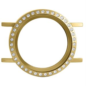Picture of Build A Bracelet: Matte Gold with Crystals Locket